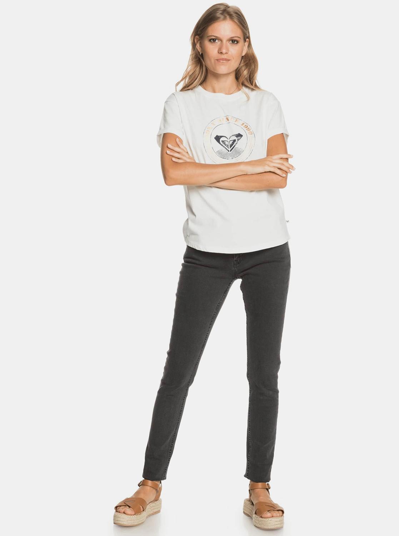 Roxy fehér póló felirattal