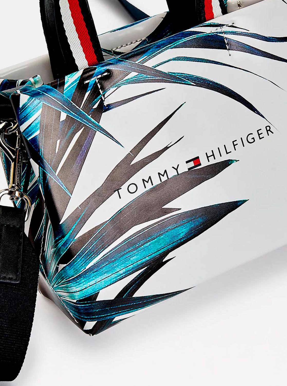 Tommy Hilfiger kék-fehér crossbody kézitáska