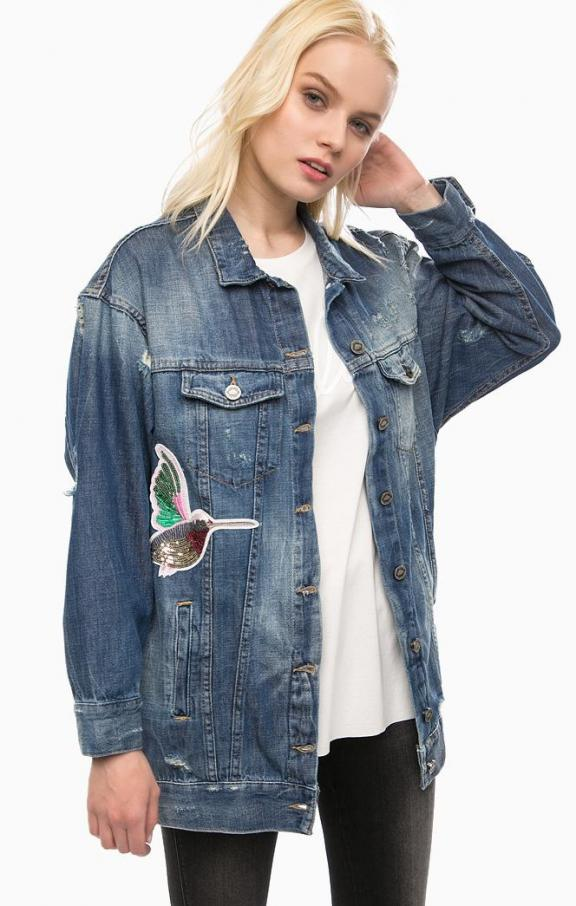 6945e46935 Fornarina oversize farmer dzseki Level Denim Jacket - Női Kabátok, Dzsekik  • Differenta.hu