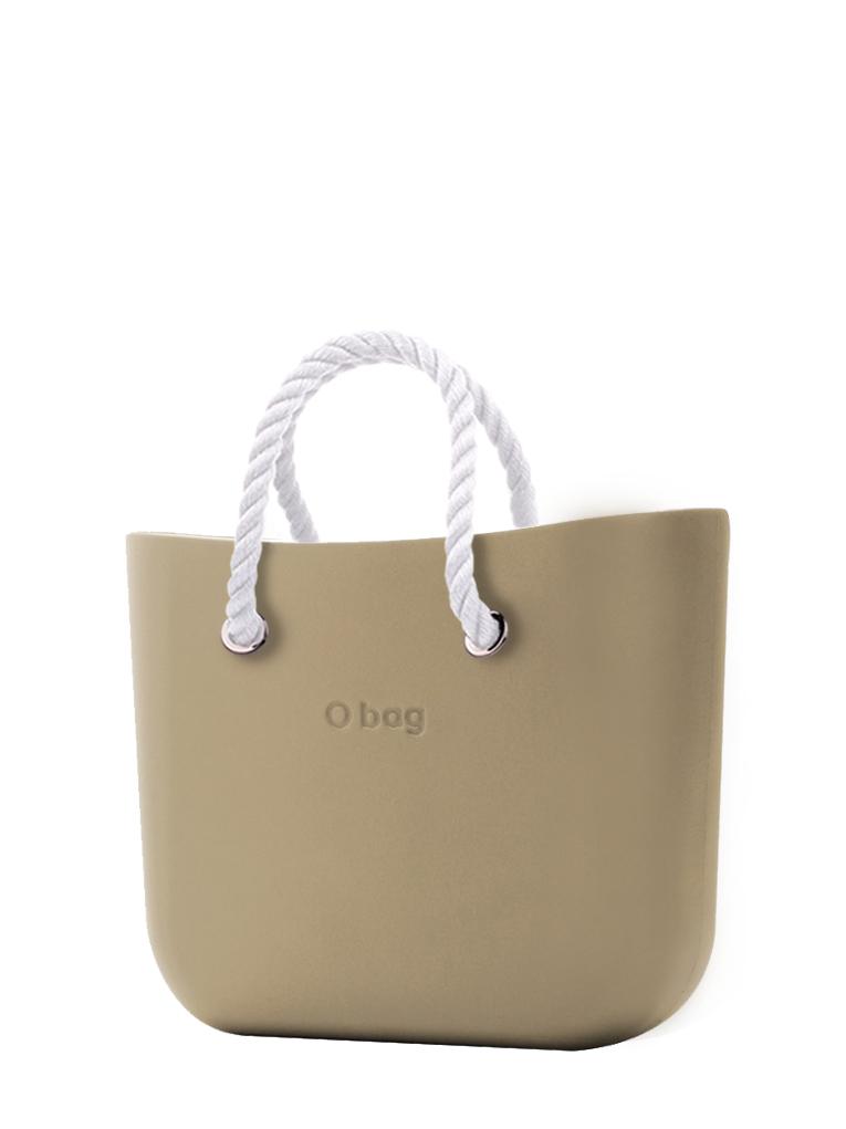 O bag kézitáska Sabbia rövid fehér kötél fogantyú