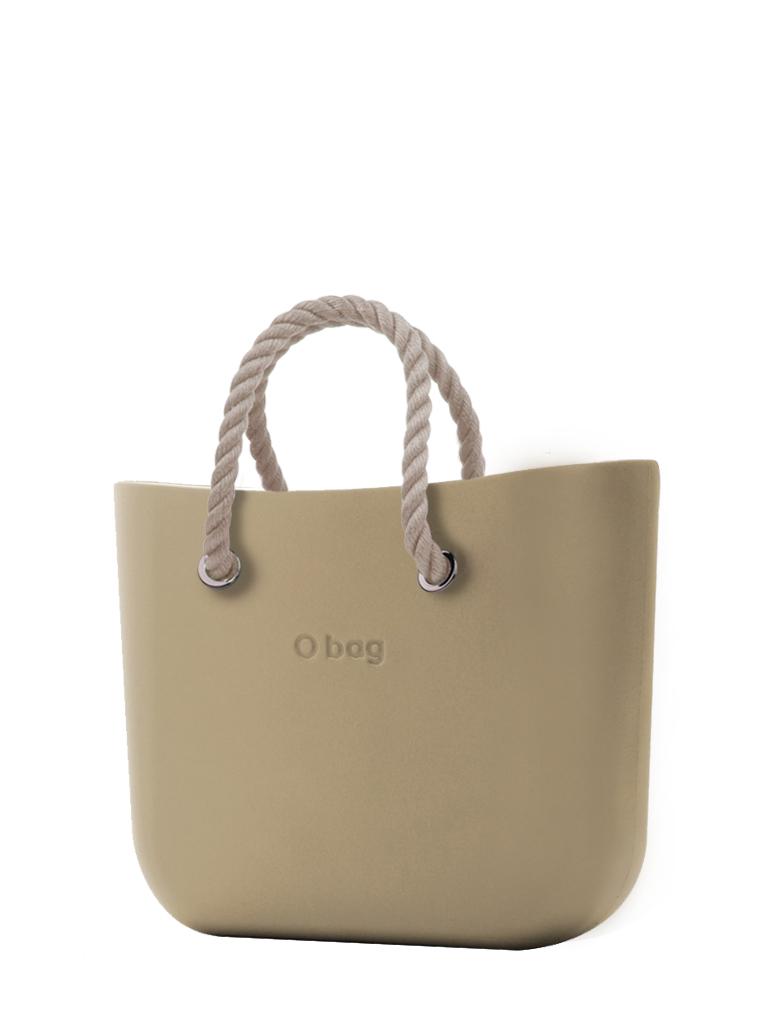 O bag kézitáska Sabbia rövid natúr  kötél fogantyúval