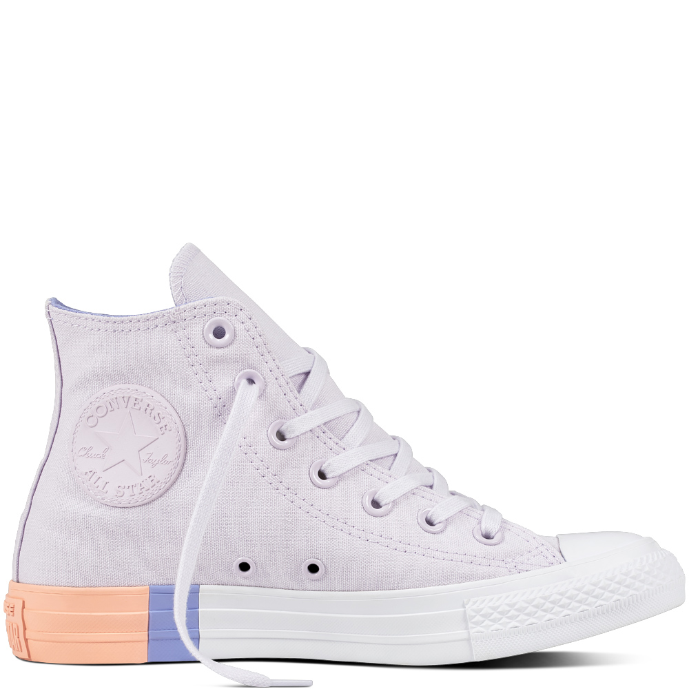 cb43bba45373 Converse lila tornacipő Chuck Taylor All Star CTAS Hi Barely Grape/Twilight  Pulse