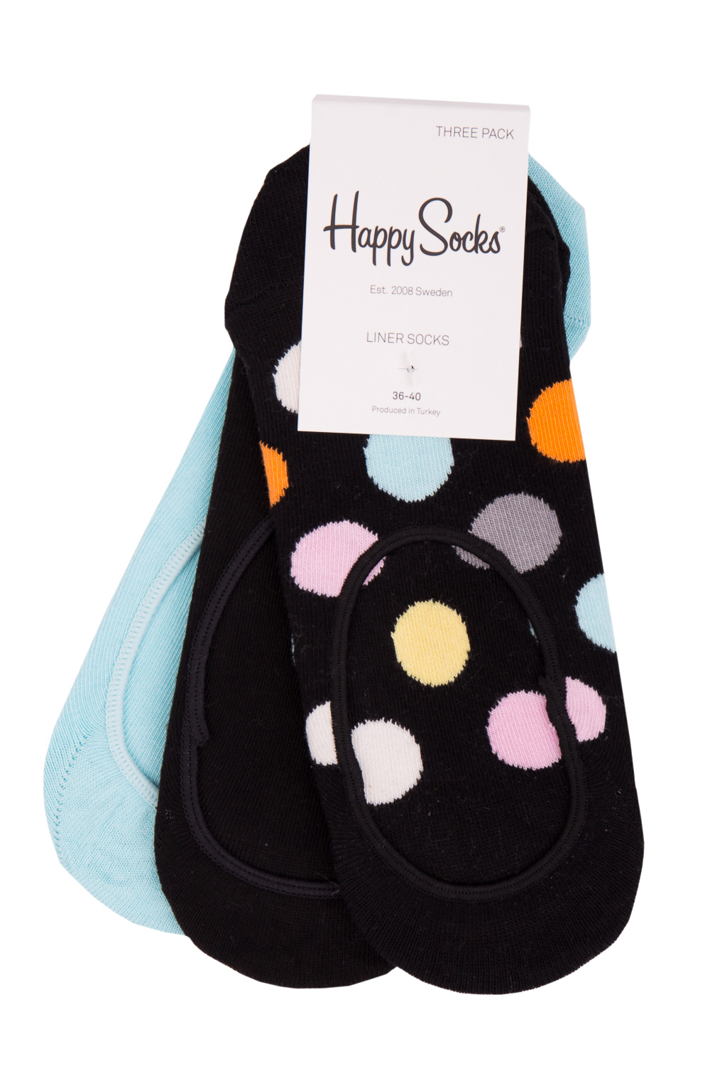 Happy Socks 3 pack színes zokni tornacipôhöz  Big Dot