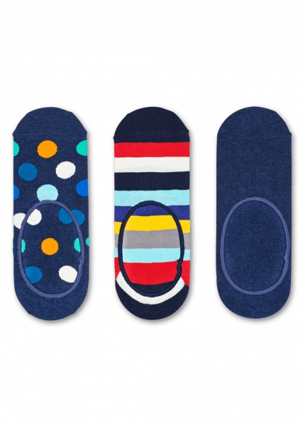 Happy Socks 3 pack kék zokni tornacipôhöz  Stripe Dot