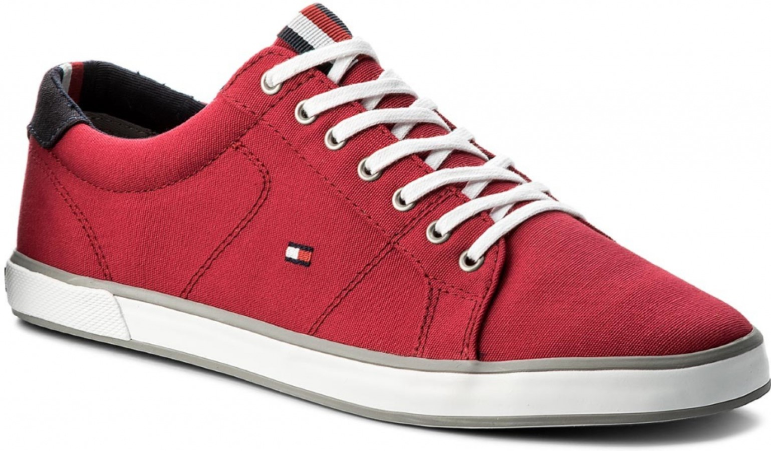 Tommy Hilfiger piros férfi tornacipô Iconic Long Lace Sneaker Tango Red