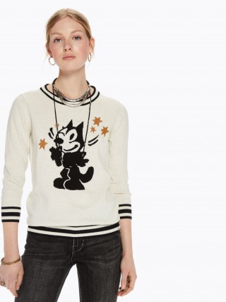 Scotch Soda bézs szvetter Intarsia Pullover Felix the Cat 567056dc0f