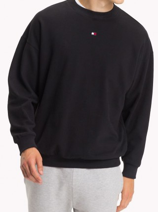 Tommy Hilfiger fekete férfi pipacs CN Track Top e806c57811