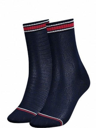 223f1cbf7e Tommy Hilfiger kék 2 pack zokni TH All Over Socks Midnight Blue