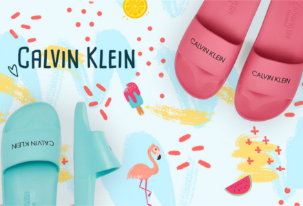 Slide papucsok Calvin Klein