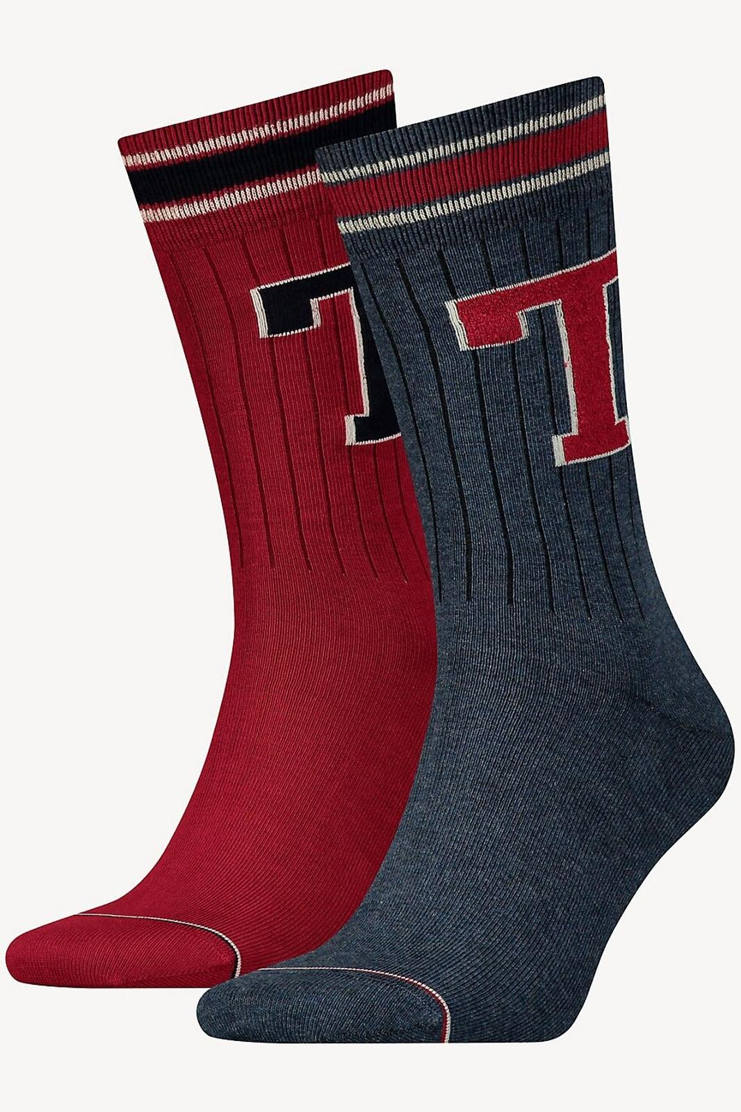 Tommy Hilfiger 2 pack zokni TH Men TH Patch Sock 2P