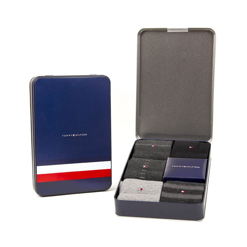 Tommy Hilfiger 5 pack zokni TH Men Sharp Stripes Giftbox 5P