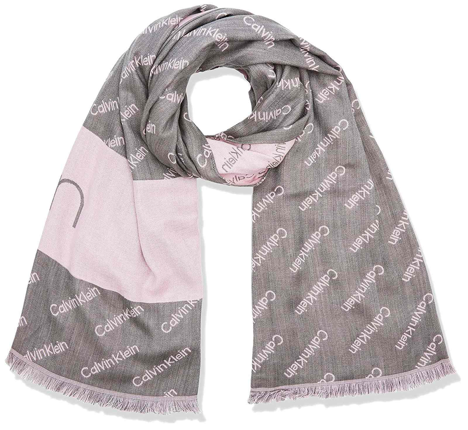 Calvin Klein szürke sál Logo Jaquard Scarf Light Grey Heather