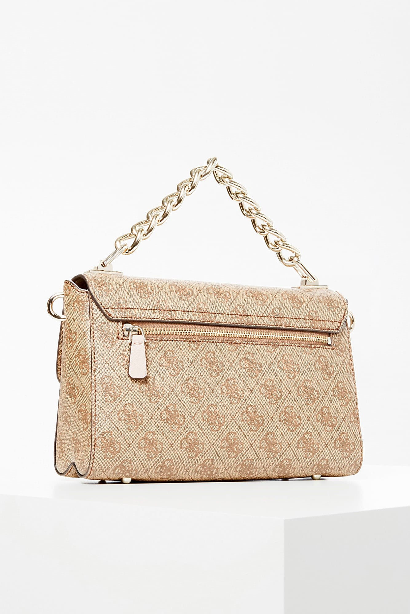 Guess bézs crossbody Candace All-Over Logo