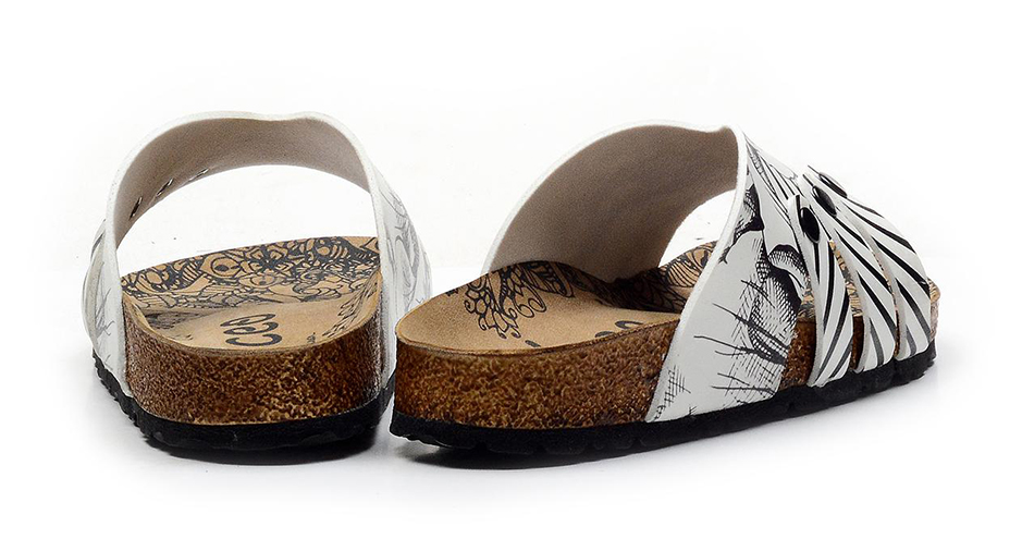 Calceo fehér papucs Casual Slippers BW