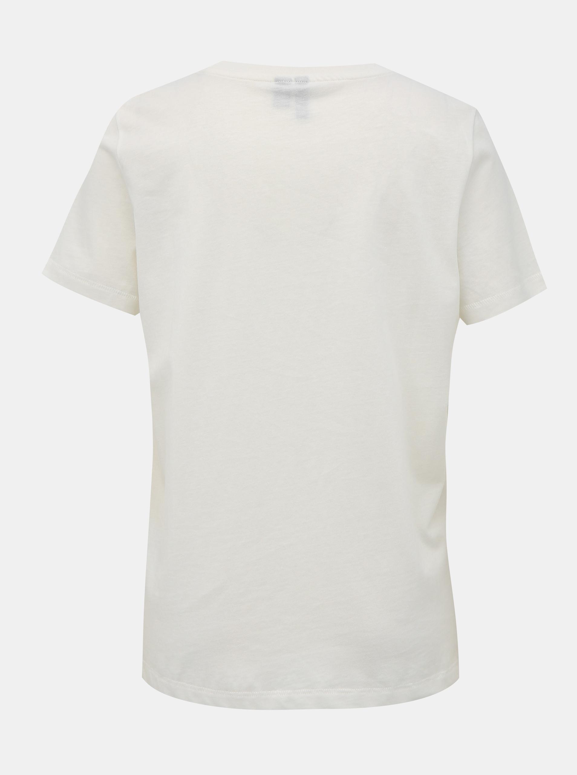 Fehér póló VERO MODA sivatagi nyomtatással