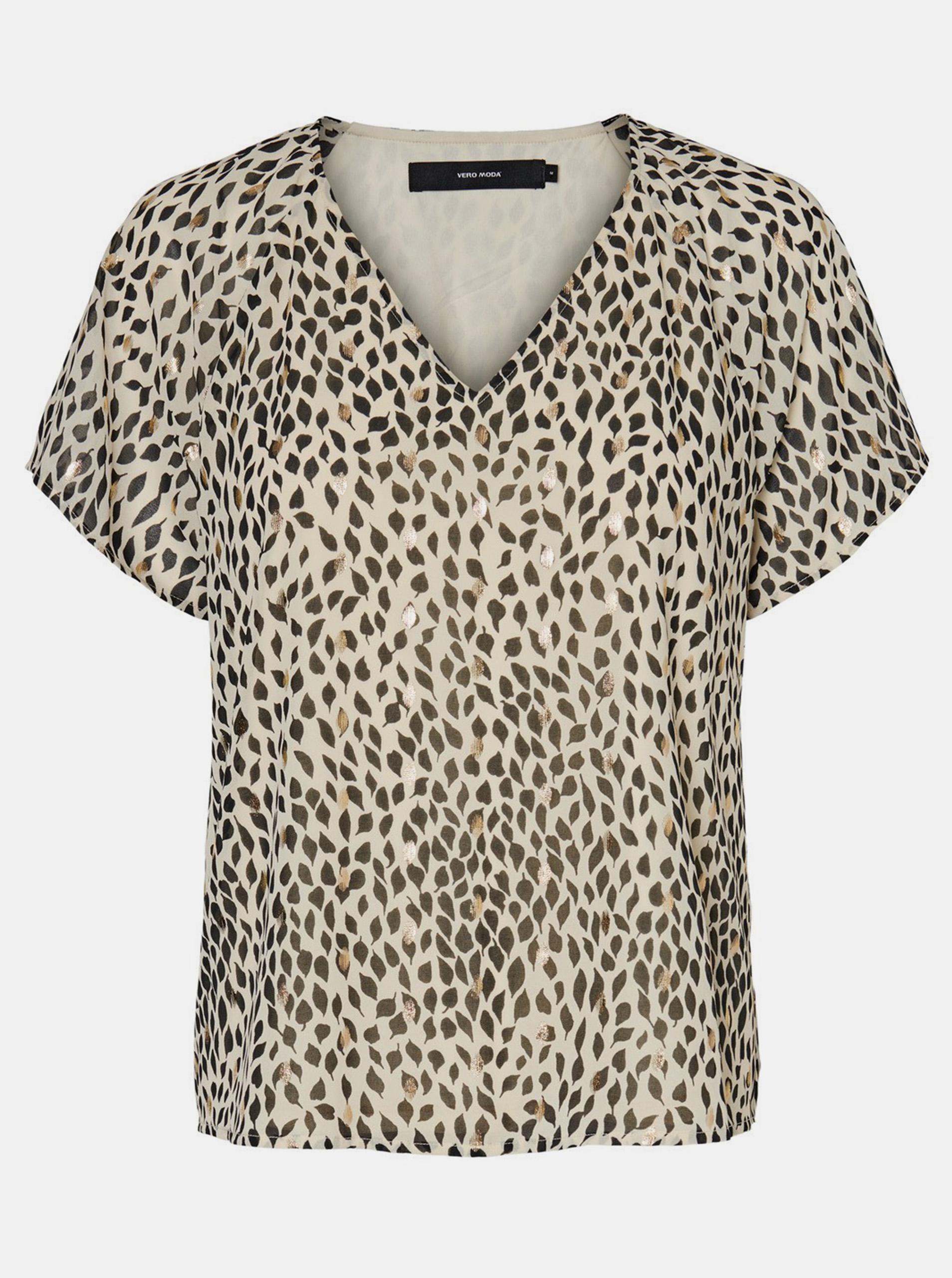 Vero Moda bézs póló Penny mintával