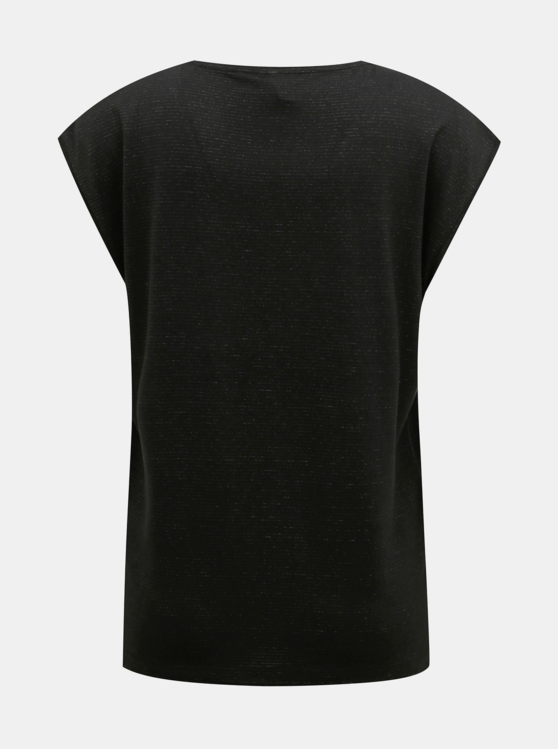Fekete póló, fémszálakkal