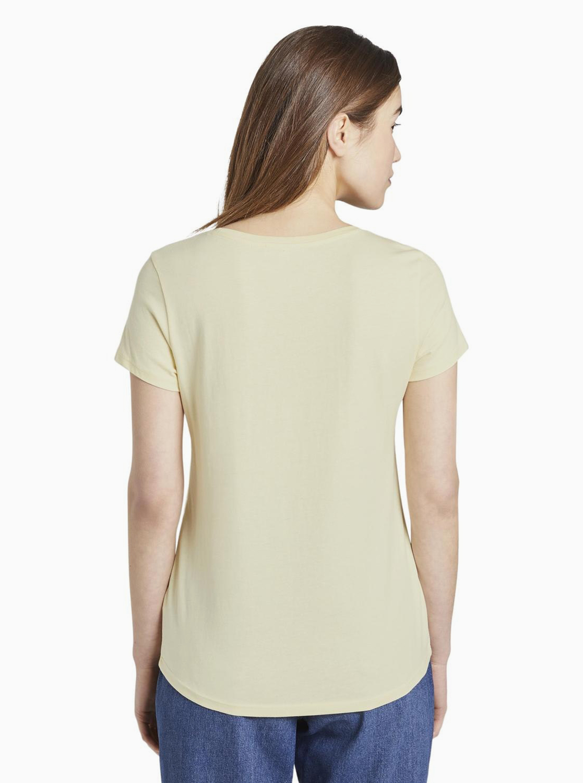 Sárga női póló, Tom Tailor Denim