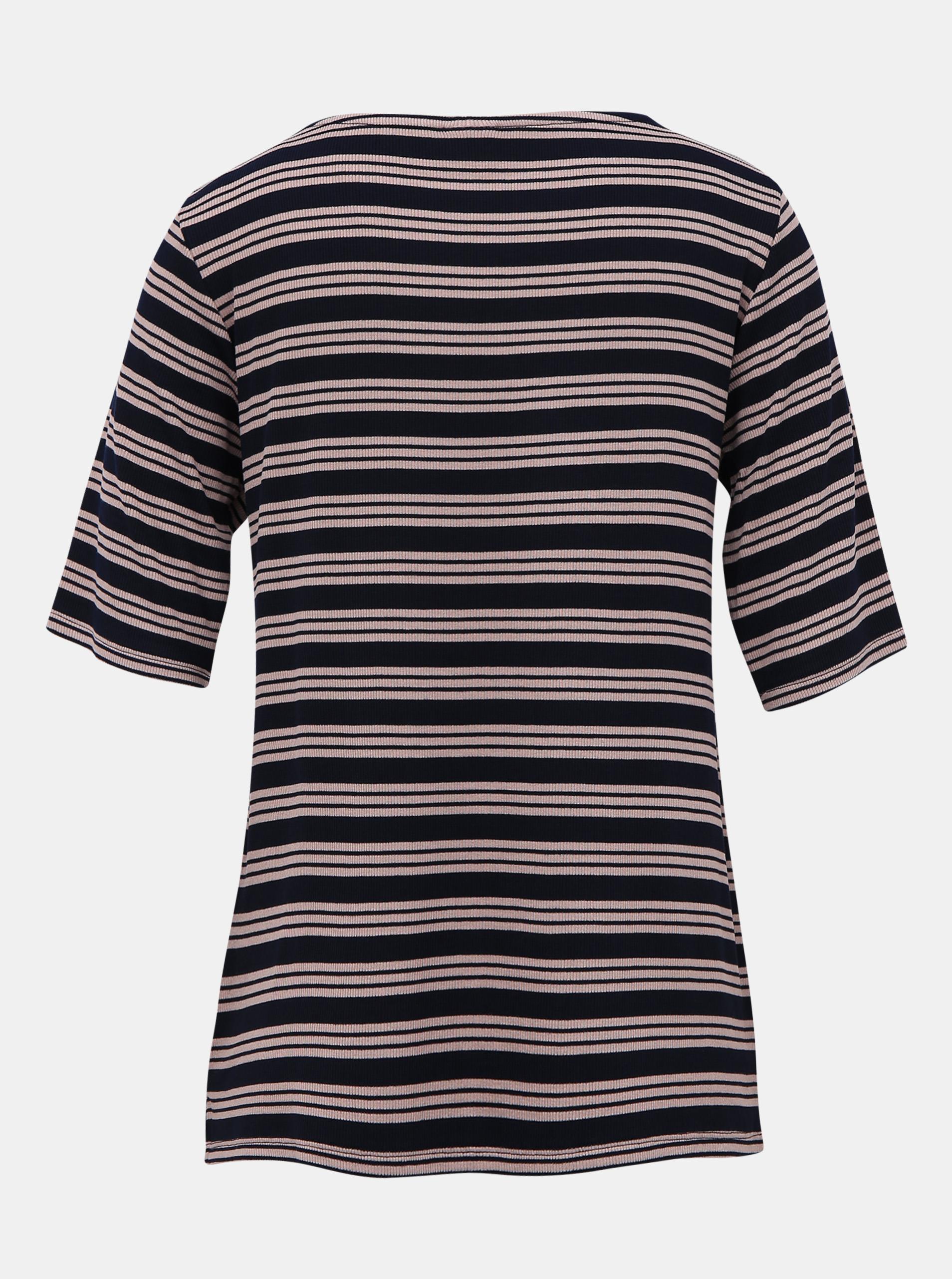 Jacqueline de Yong Camina sötétkék csíkos pólója