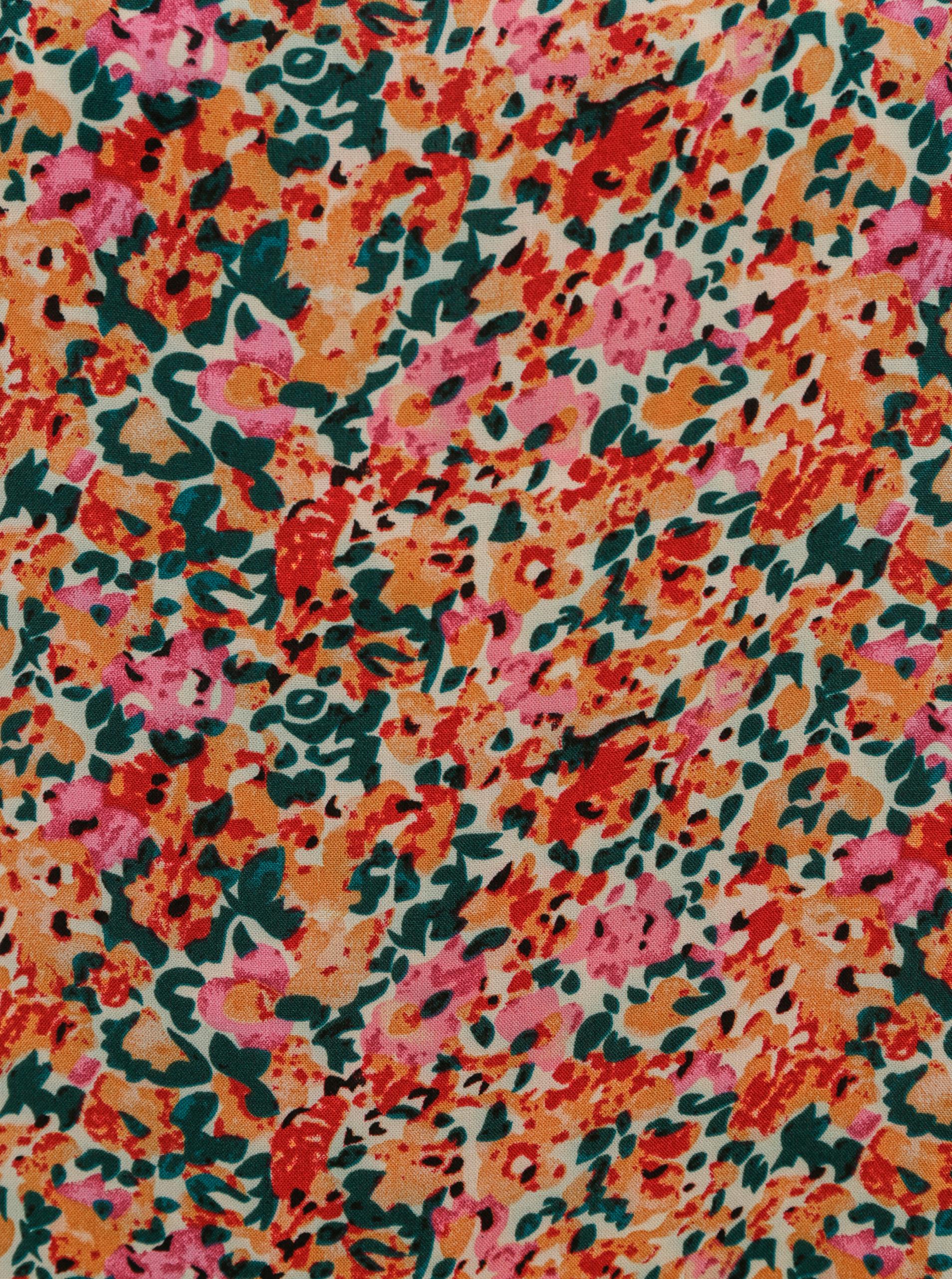 Rózsaszín-narancssárga virágú blúz CSAK Nova