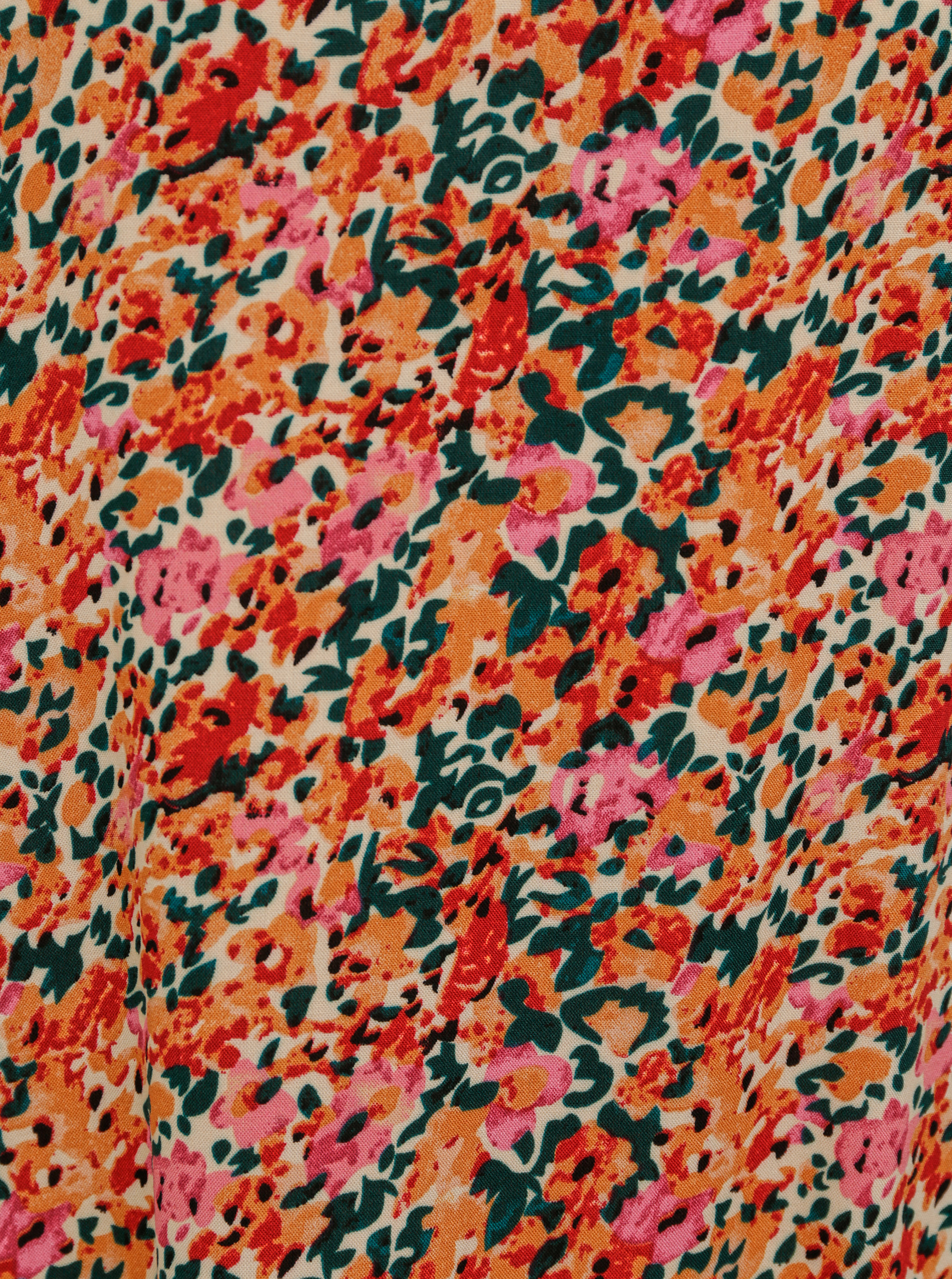 Rózsaszín-narancssárga virágos blúz CSAK Nova