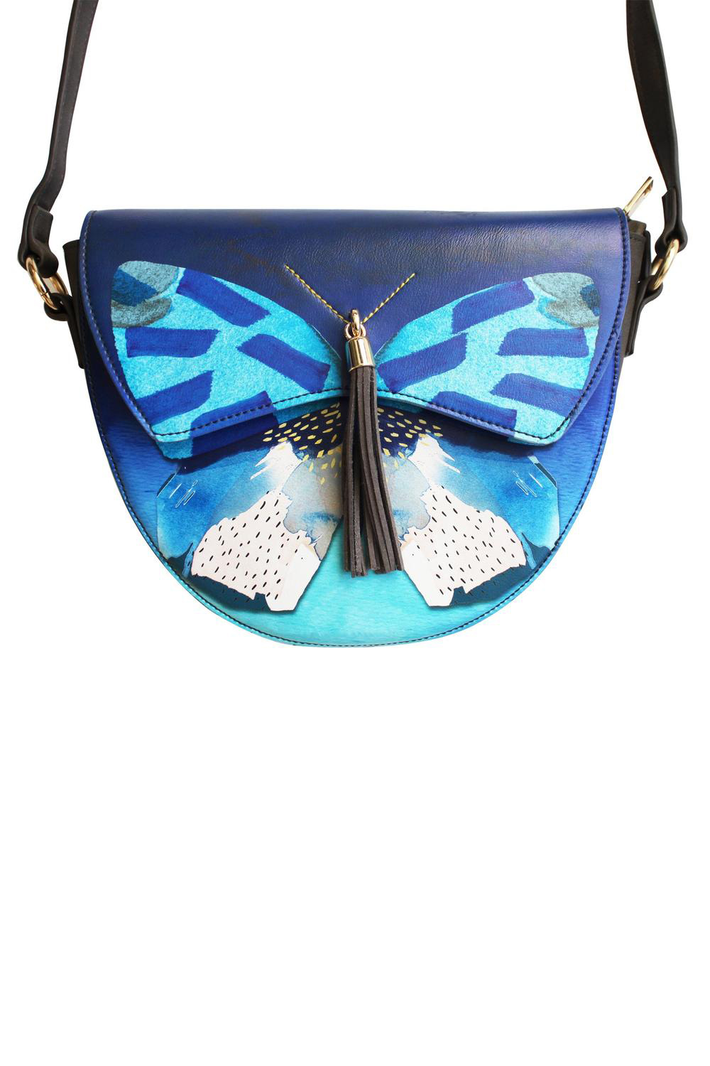 Disaster kék crossbody kézitáska Papillon Saddle Bag