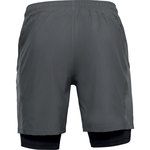 UA LAUNCH SW 2-IN-1 SHORT-GRY
