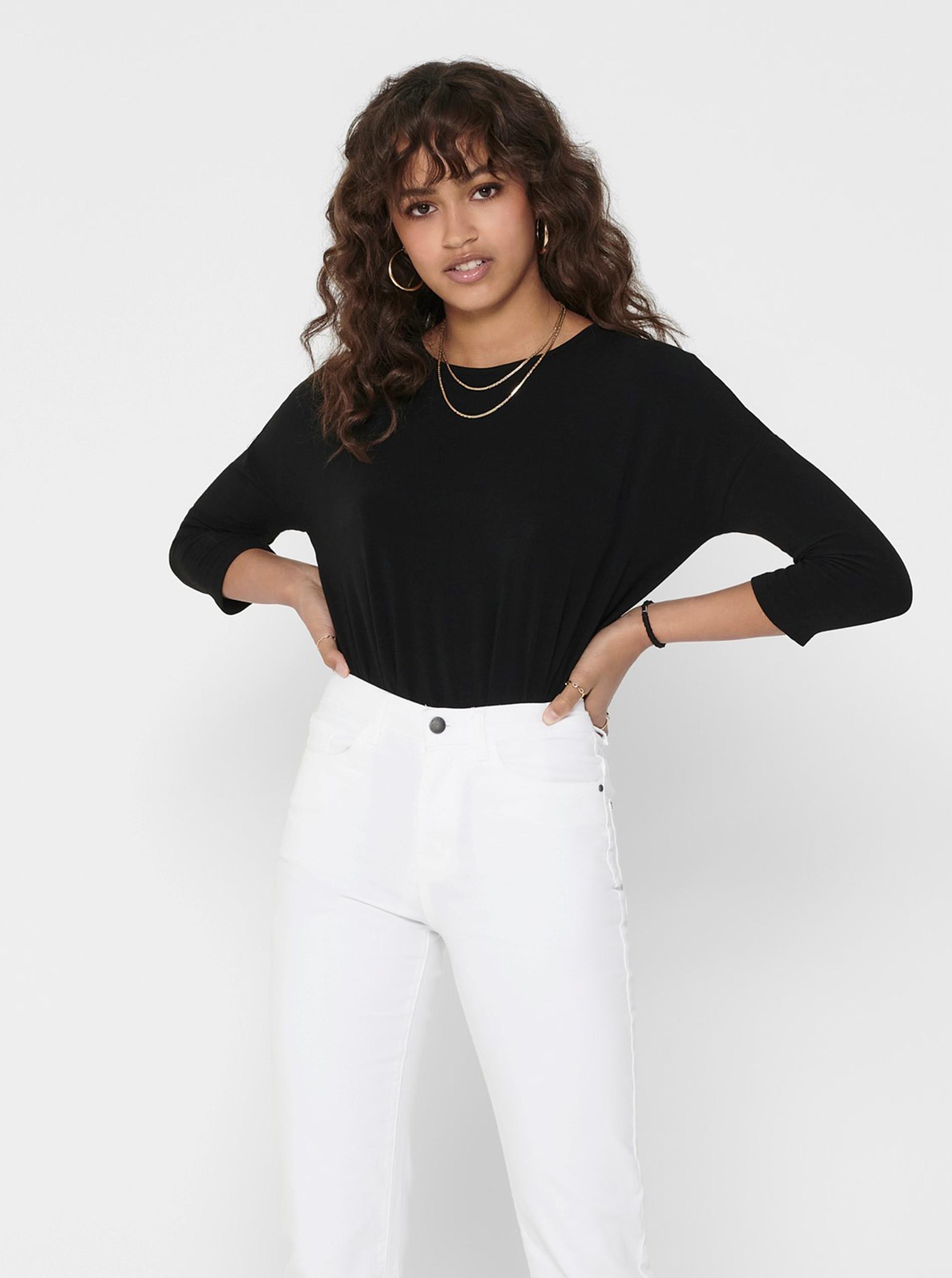 Fekete könnyű pulóver CSAK Glamour