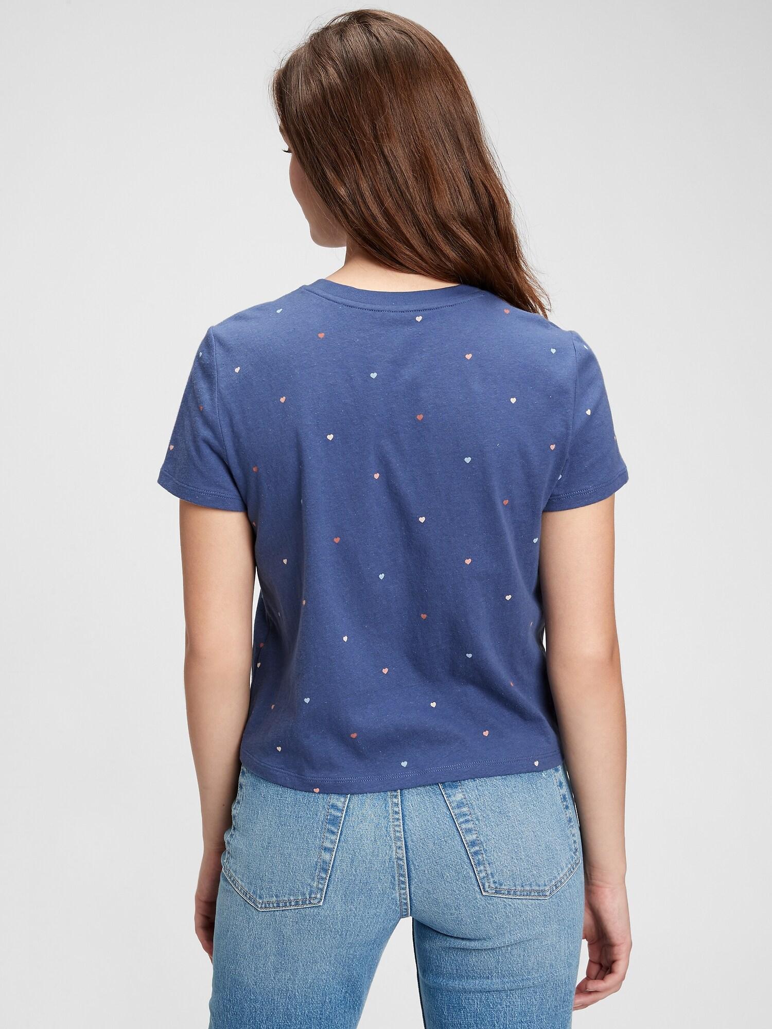GAP kék női póló ss shrunken te