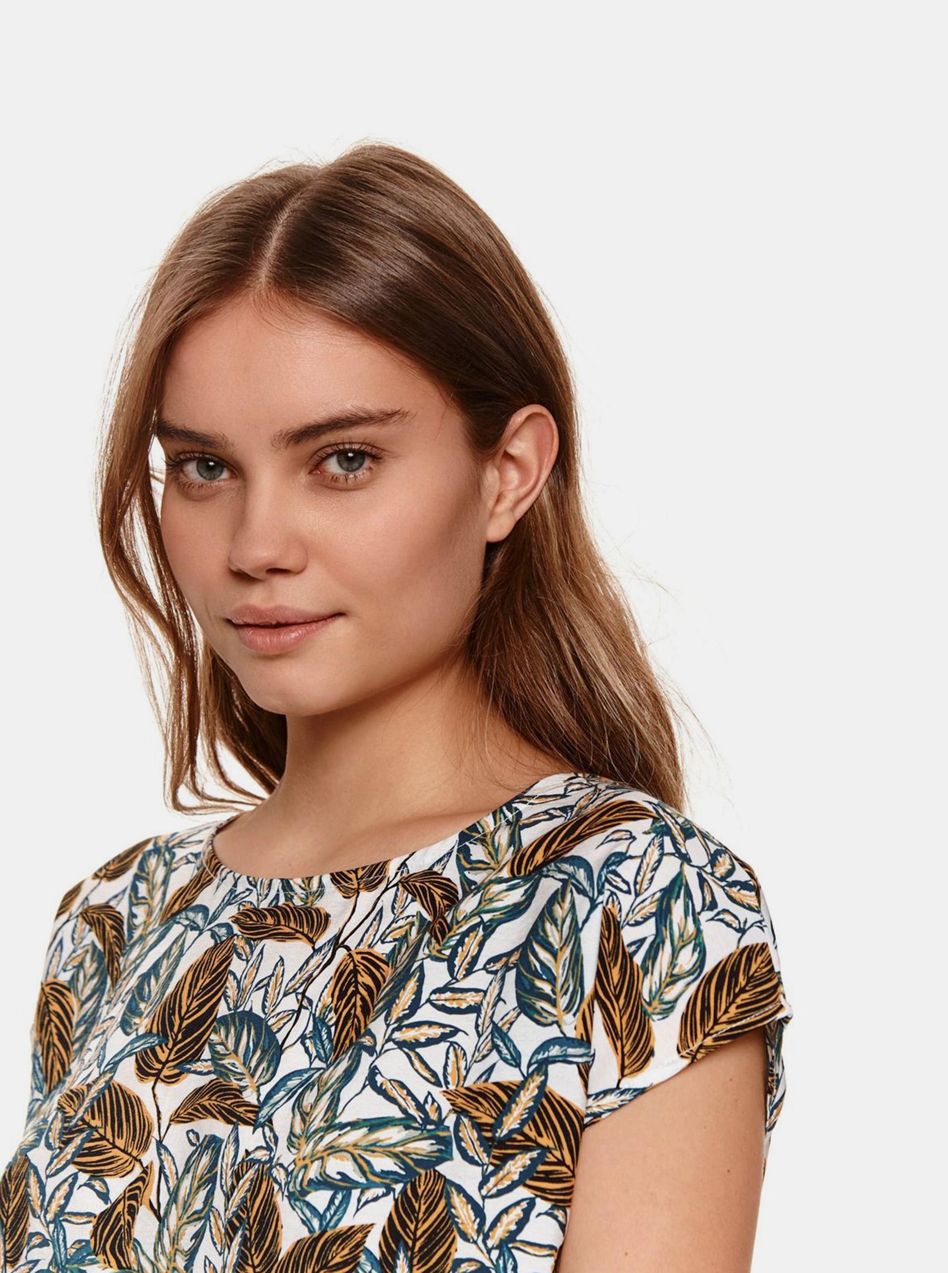 TOP SECRET fehér női póló mintával