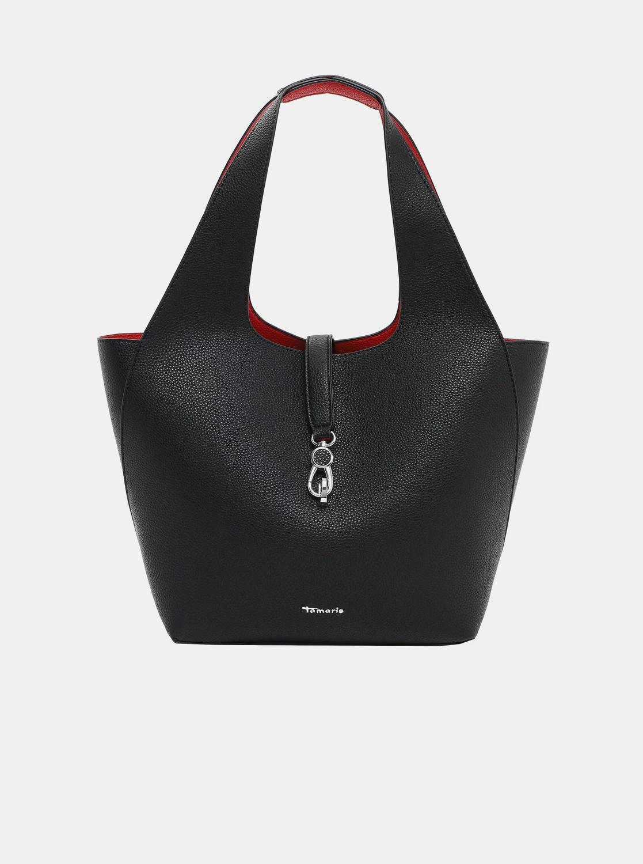 Tamaris fekete kétoldalas shopper